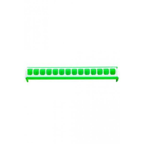 Krmítko pro slepice žlabové 50cm zelené, plast