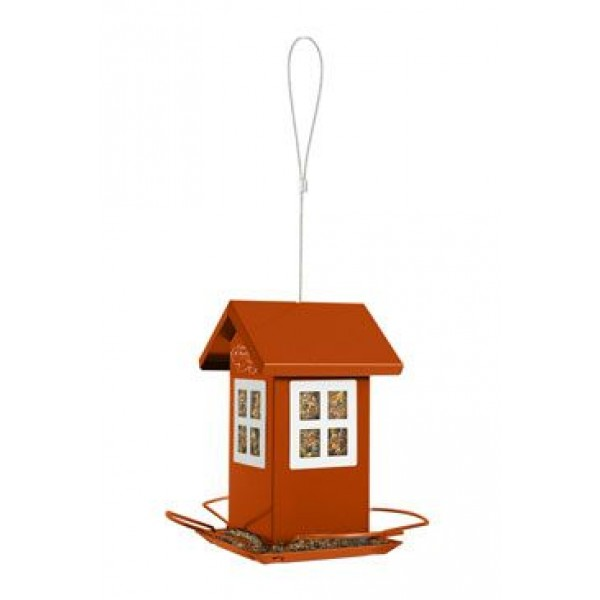 Budka krmítko HOUSE kovová oranžová Zolux